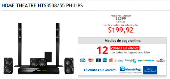 Home Theatre Philips ideal