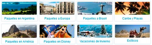 Garbarino paquetes de viaje 2013