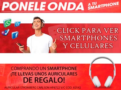 Celulares Garbarino smartphones promoción agosto 2013