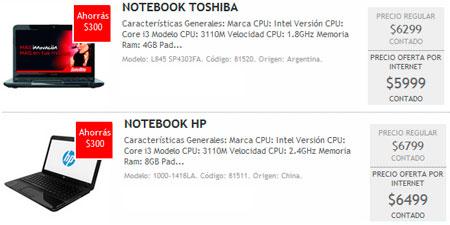 Notebooks en oferta septiembre 2013
