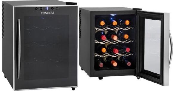 Cava refrigerada para vinos con capacidad para 12 botellas