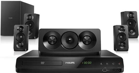 Home Theatre con 6 parlantes Philips