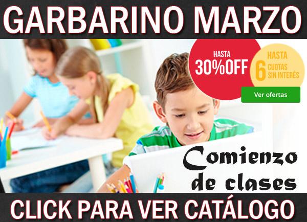 Garbarino catálogo de marzo