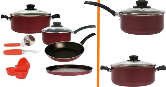 Set completo de ollas y utensilos de cocina