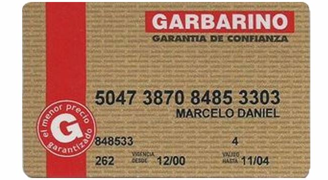 Garbarino tarjeta de crédito