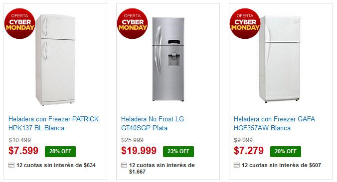 Garbarino heladeras Cyber Monday freezers