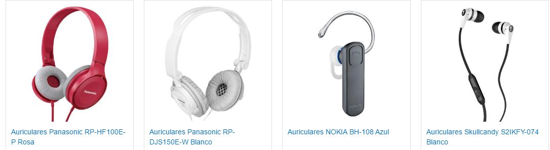 Marcas en auriculares Garbarino