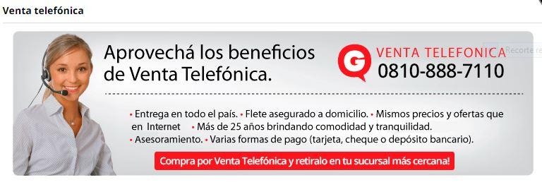 venta telefónica Garbarino