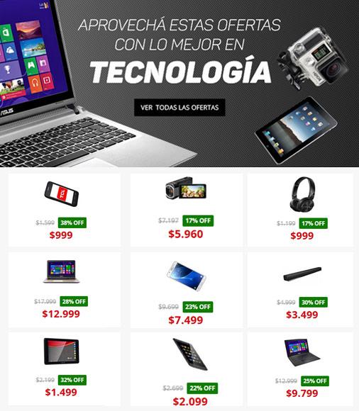 Ofertas de tecnología en Garbarino