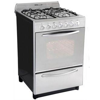 Cocina domec de acero inoxidable en garbarino al mejor precio - Cocina de gas precios ...